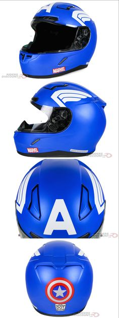 Every kid dreams of being a superhero. Now you can be Captain America while riding your motorcycle! HJC has partnered with Marvel to create the first ever licensed Captain America motorcycle helmet: the HJC Captain America CL-17 Full Face Helmet!