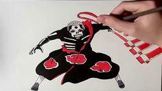 Speed Drawing Hidan  Naruto Shippuden