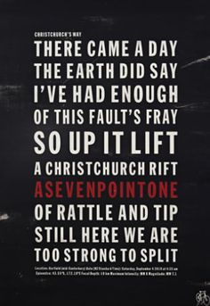 The earth did say, I've had enough...so up it lift! Christchurch earthquake, 7.1 by Jason Kelly. Available through imagevault.co.nz