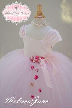 Floating Princess Pink Flower Girl Dress | MelissaJane Boutique | Quality Children's Dresses
