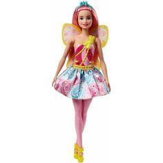 Papusa Mattel Barbie Dreamtopia Zana in rochie roz Mattel Barbie, Barbie Fashionista, Barbie Shelly, Long Pink Hair, Fairy Shoes, Barbie Website, Chelsea, Mermaid Fairy, Doll Clothes Barbie