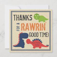Dinosaur Thank You Cards
