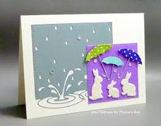puddles memory box cards - Google Search