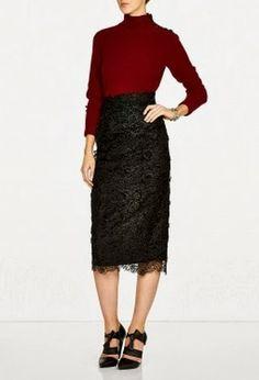 SAVVY CHIC, CANNY STYLE: Splendid Skirt: Hermione de Paula Miriam Lace Midi Skirt from My-Wardrobe