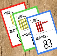 FREE Place Value I Have, Who Has? Game #kids #elementary #math