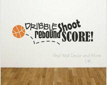 Basketball Sports Vinyl Wall Decal FREE US SHIPPING