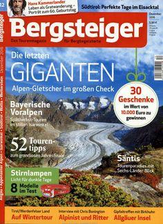 Alpen-Gletscher. Gefunden in: Bergsteiger - Das Tourenmagazin, Nr. 12/2016