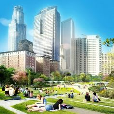 Four+competing+designs+unveiled+for+Pershing+Square+in+downtown+Los+Angeles