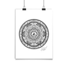 """GLENN THOMSON PINEAL GLAND OPTICS POSTER - Designed by Sacred Geometry artist Glenn Thomson 18 x 24"""" Size - Printed on Epson Enhanced Matte Paper Museum-quality poster on thick, durable, matte paper f"""