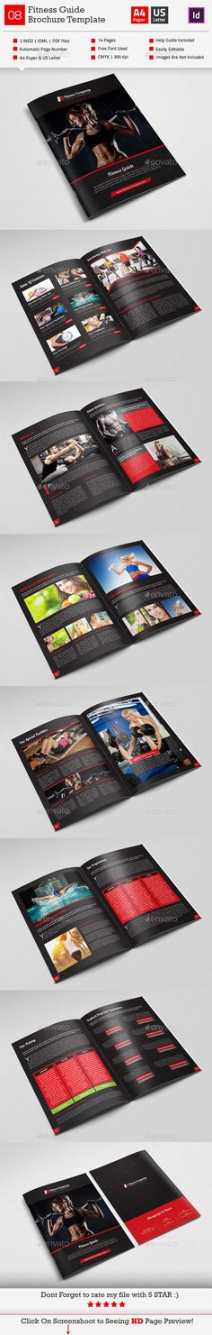 Graphics, Creative and Creative design on Pinterest - fitness brochure