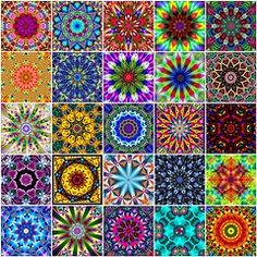 these are great!  radial designs to show the kids.  Make your own with beads or seeds....