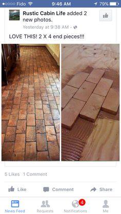 Wooden brick floors