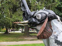 Alpo Koivumäki Garden Sculpture, Lion Sculpture, Outsider Art, Outdoor Decor