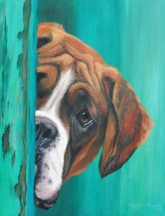 dog art Come join us for our Pet Portrait Folk Art Painting Class, next Saturday the from to PM. Wouldnt you love to have a painting of your special pet that you painted yourself. Seats are limited so reserve your spot today! Animal Paintings, Animal Drawings, Art Drawings, Boxer Dogs, Boxers, Dog Portraits, Dog Art, Canvas Art, Dog Canvas Painting