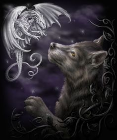 Mystical Encounter by Sheblackdragon.deviantart.com on @deviantART
