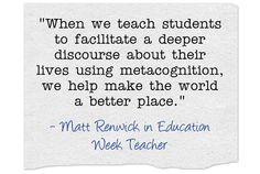 Metacognitive Skills put Students on 'Road to Lifelong Learning.' Read on via Ed Week Teacher