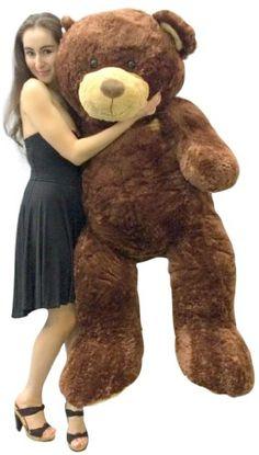 9d976a4d56d7 Big Plush 5 Foot Teddy Bear Soft Brown Premium Giant Stuffed Animal 60 Inch  S.