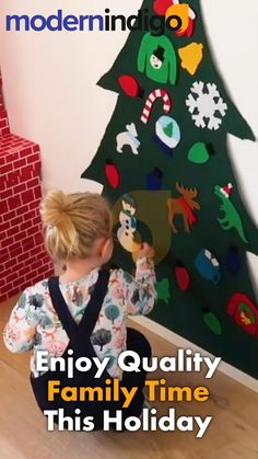 Diy Felt Christmas Tree, Homemade Christmas Gifts, Noel Christmas, Christmas Crafts, Christmas Ornaments, Diy For Kids, Gifts For Kids, Creative Play, Felt Diy