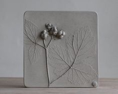 Rachel Dein Botanical Casts in Plaster and Concrete by RachelDein Plaster Cast, Tiles For Sale, Tuile, Ceramic Wall Art, A Moment In Time, Botanical Art, Fused Glass, Metallica, Concrete