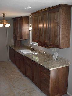 Picanti Walnut Galley Kitchen