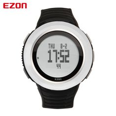 (124.30$)  Watch here  - EZON Altimeter Barometer Thermometer Weather Forecast Sunrise Sunset Time Men Digital Watches Sports Outdoor Climbing Wristwatch
