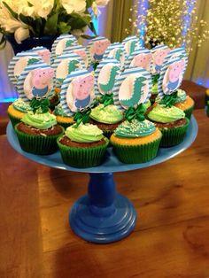 Decoração George Pig - Topper para Cupcake