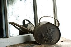 Antique Watering Can Vintage 1920s Watering by NostalgiaWarehouse, $150.00