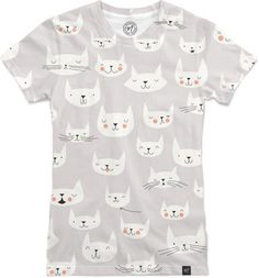 Cat Faces Women's T-Shirts by Lizzy House | Nuvango