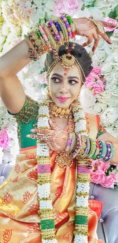 Big Fat Indian Wedding, Indian Weddings, Bangle Ceremony, Third Trimester, Flower Garlands, Mother And Father, Christian Women, Fertility, Pregnancy Photos