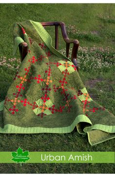 Urban Amish' is a traditional Amish quilt design, which fits perfectly into our modern world. The Amish lifestyle is rich in beauty and tradition, where they have been creating many of their favorite