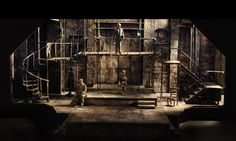 """Sweeney Todd  Cygnet Theatre  Directed by Sean Murray  Set Design by Sean Fanning  1/4"""" Scale Model"""