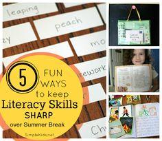 5 Fun Ways to Keep Literacy Skills Sharp Over the Summer Break