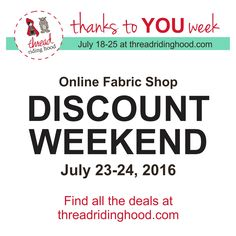 It's Discount Weekend! YAY! 16 Canadian Online Shop discounts - 2 Days Only! July 23-24, 2016