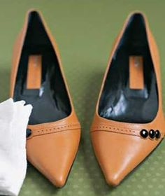 Yes, Swiffer sheets do wonders on your floors and furniture, but you can use them to clean leather shoes, too. You'd be amazed how much dust clings to footwear.