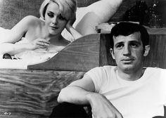 Jean Seberg & Jean-Paul Belmondo in Backfire, 1964.