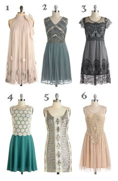 The Great Gatsby Inspired Dresses. Love vintage old fashion styles. So poetic and artistic and romantic