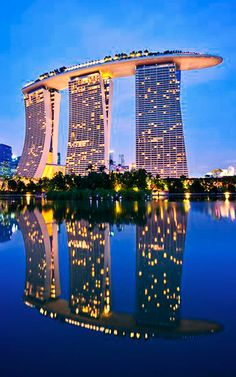 Marina Bay Hotel Singapore, Singapore Vacation, Sands Singapore, Vacation Wishes, Vacation Spots, High Rise Building, Urban Sketching, Travel Goals, Southeast Asia