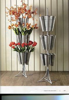 Silk Flower Display Rack, Round Wonder if knitting or crochet needles could be stored in this....