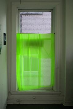People Footwear - Inspiration - Bright Green Window Curtain