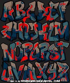 Image of Graffiti Font - Gangster Graffiti Lettering Alphabet, Graffiti Text, Tattoo Lettering Fonts, Graffiti Tagging, Graffiti Drawing, Typography Art, Lettering Design, Graffiti Images, Graffiti Designs
