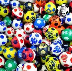 pelota hueca 1 pulgada futbol mexicano maquina chiclera