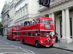 "Time Bus. Enjoy London scenery whilst getting around on your big day! For more Alternative Wedding inspiration, check out the No Ordinary Wedding article ""20 Quirky Alternatives to the Traditional Wedding""  http://www.noordinarywedding.com/inspiration/20-quirky-alternatives-traditional-wedding-part-3"