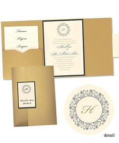 Hannah Folio Pocket Wedding Invitations by MyGatsby.com