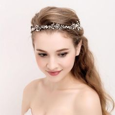 Brand New Vintage Gold Clear Crystals Pearls Flowers Wedding Hair Vine Bridal Headband Hair Accessories Bridesmaids Headdress Bride Hairstyles, Headband Hairstyles, Bridesmaid Hair Accessories, Hair Jewelry, Jewelry Sets, Jewelry Accessories, Cheap Accessories, Bridal Hair Vine, Bridal Headpieces