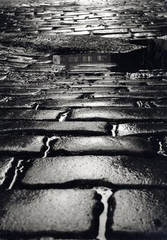"""Frederic Bourret (NYC0047)  NewYork. """"the Endless Pavement""""."""