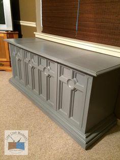 Repurposed Vintage Console Stereo Cabinet Into Cedar Chest.