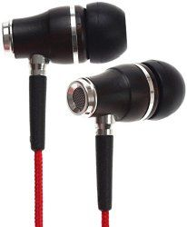 Symphonized NRG Premium Genuine Wood in-Ear Noise-isolating Headphones with Mic and Nylon Cable (Red) High End Speakers, Headphone With Mic, Electronics Gadgets, Travel Gifts, Travel Accessories, Holiday Fun, Stocking Stuffers, Headphones, Ear