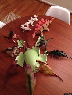 remember for November!!! Dad's 'Dinovember' puts Elf On The Shelf to shame | #BabyCenterBlog