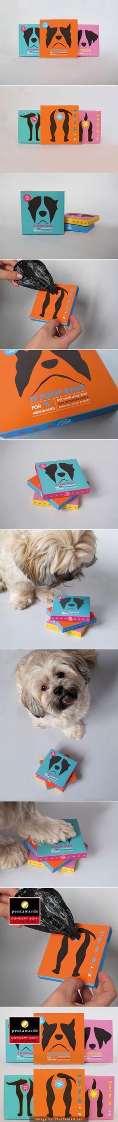 Nom d'un chien (Concept) #poopbags, Designer: Marine Bacot - http://www.packagingoftheworld.com/2014/10/nom-dun-chien-concept.html