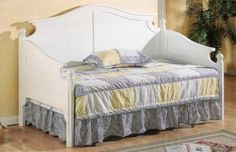 Amazon.com: Beach Style White Finish Wood Daybed: Home & Kitchen